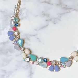 J. Crew multi-colored crystal statement necklace